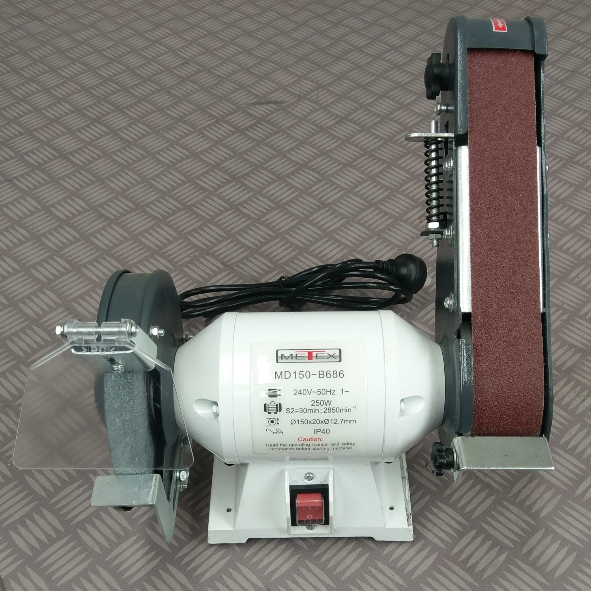 Metex 150mm Combo Bench Grinder Linisher Redfoxmachinery
