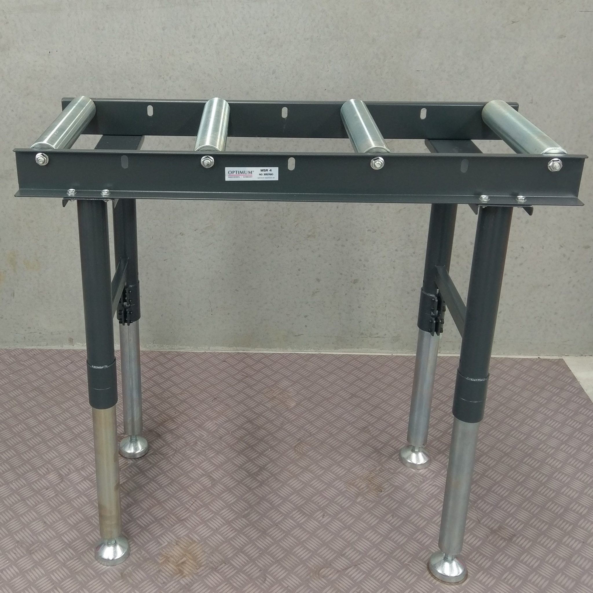 Optimum Conveyor Roller Stand Table Band Drop Cold Saw