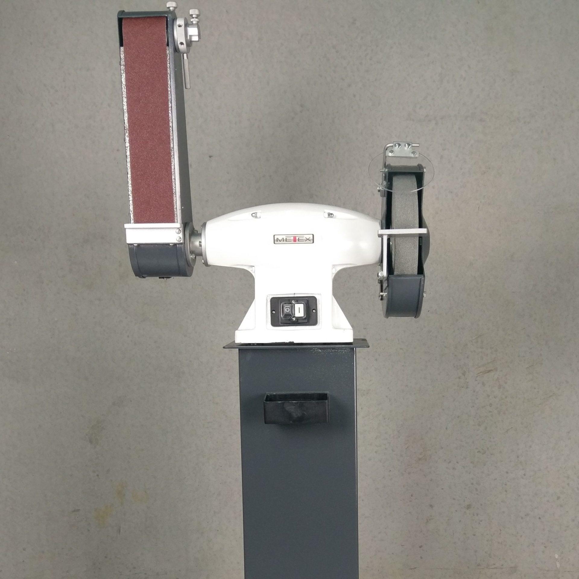 Metex 250mm 10 Combo Bench Grinder Linisher 240v 2hp