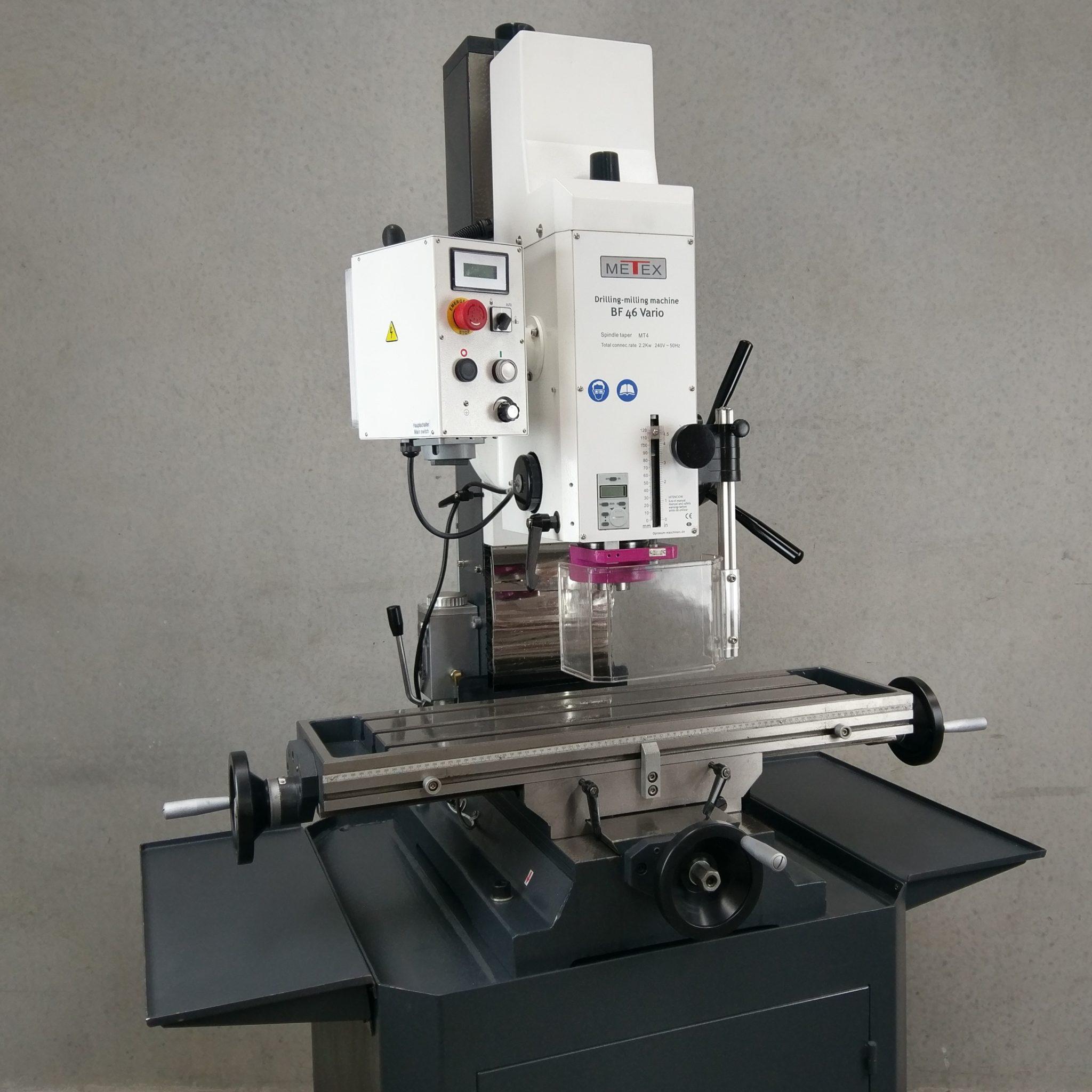 Metex Opti Bf46v Milling Machine Redfoxmachinery