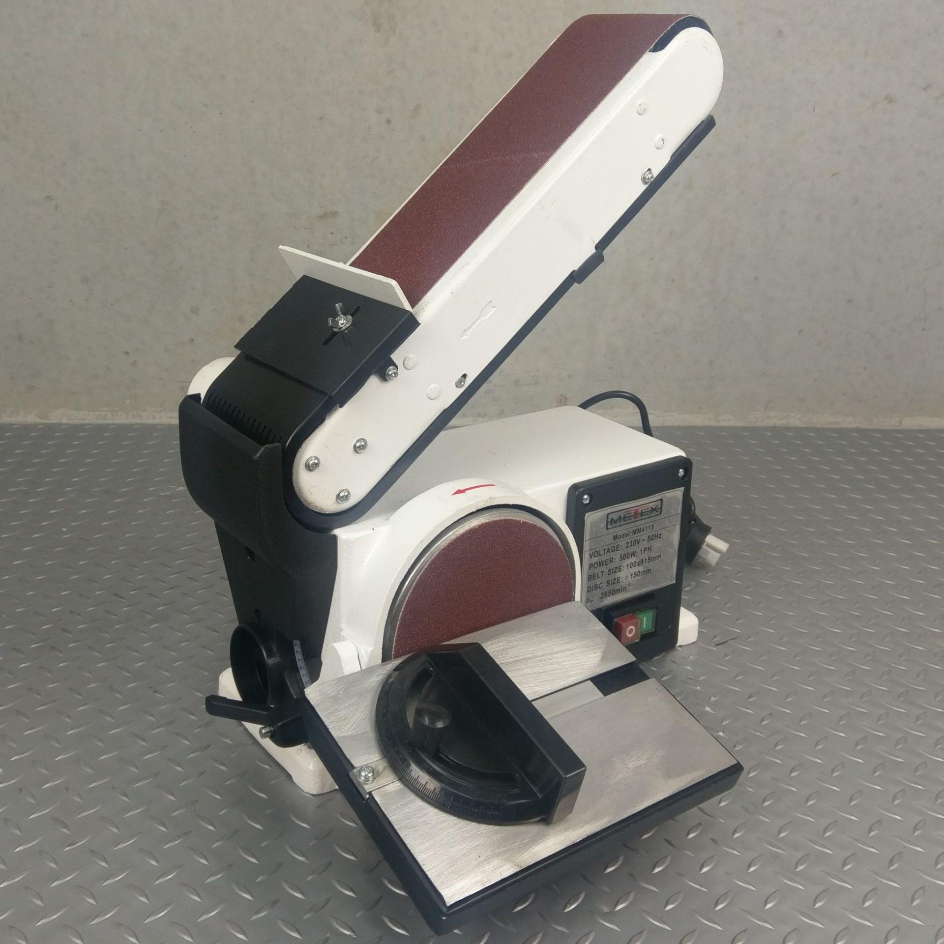 Metex Belt Amp Disc Linisher Sander 500 Watt Sanding