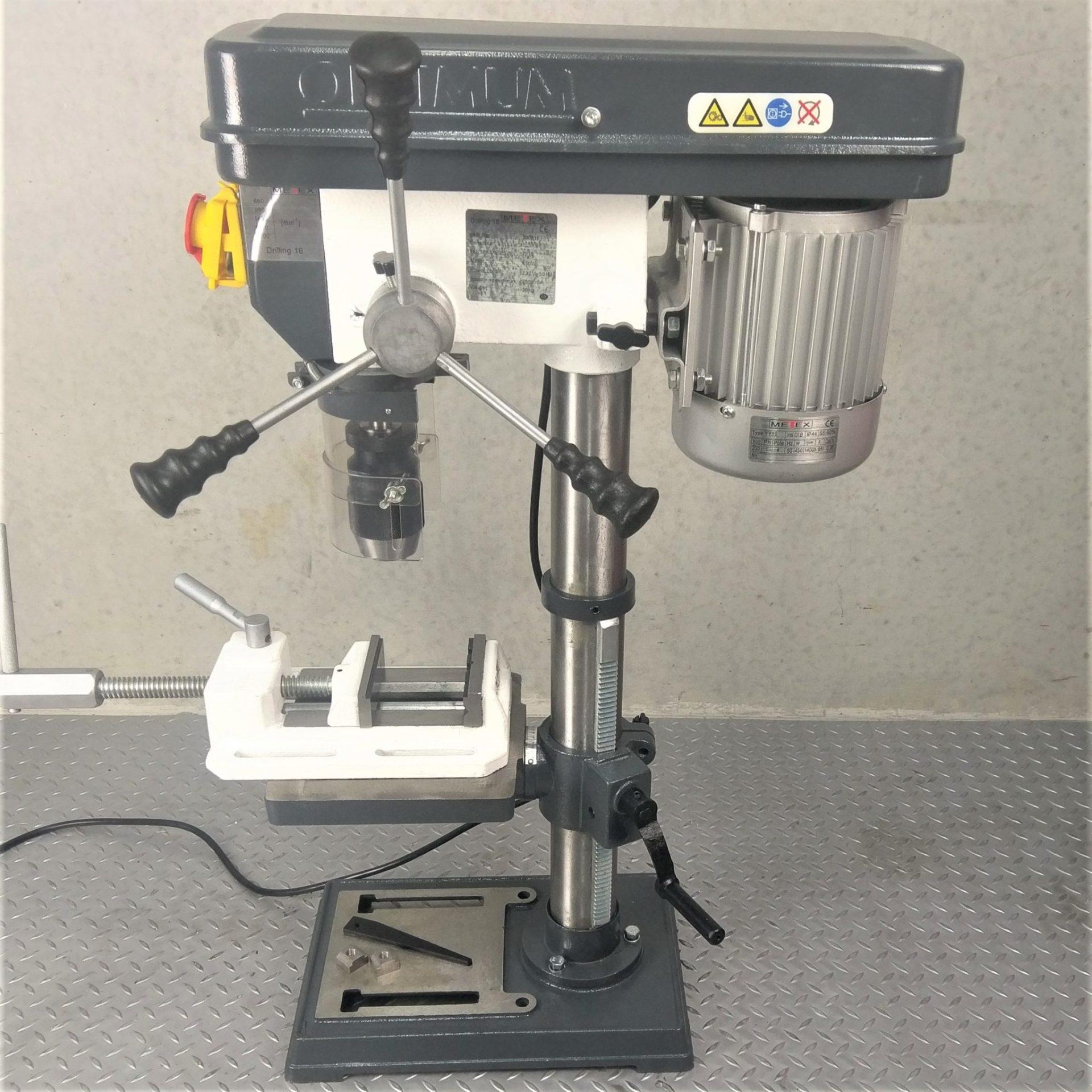 Bench Drill Press 16mm Metex By Optimum Quality Free