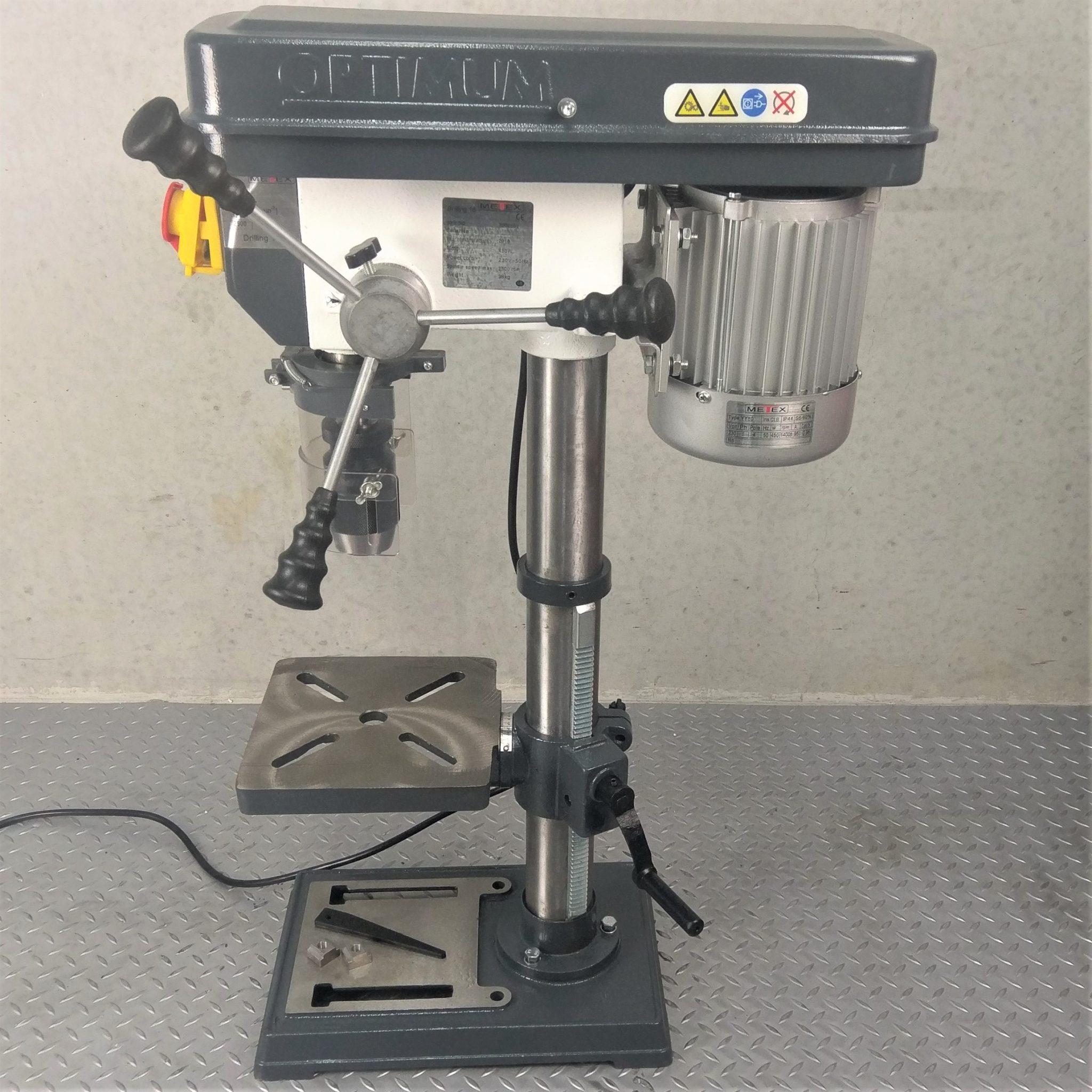 Metex By Optimum Bench Drill Press 16mm Mt2 5 Speed V
